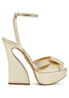 Charlotte Olympia Curved heel leather platform sandals