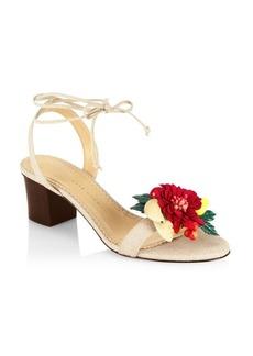 Charlotte Olympia Fashion Tropical Tara Block Heel Sandals