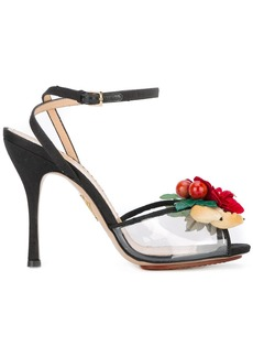 Charlotte Olympia floral sandals - Black