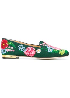 Charlotte Olympia floral slippers