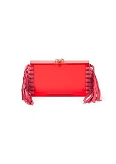 Charlotte Olympia Fringe Pandora Clutch Bag