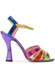 Charlotte Olympia Isla rainbow sandals - Multicolour