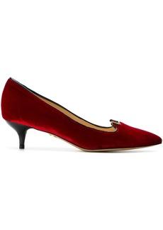 Charlotte Olympia kitten heel pumps - Red