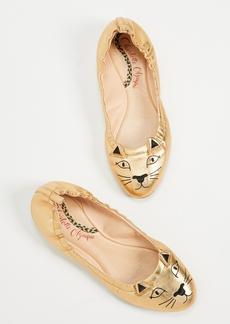 Charlotte Olympia Kitty Ballerina Flats