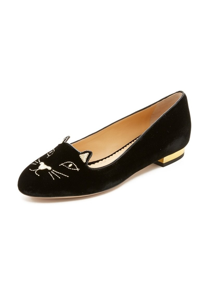 charlotte olympia charlotte olympia kitty flats shoes shop it to me. Black Bedroom Furniture Sets. Home Design Ideas