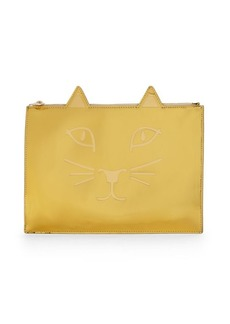 Charlotte Olympia Kitty Leather Pouch