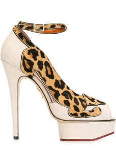 Charlotte Olympia 'Leopardess' pumps - Nude & Neutrals