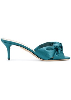 Charlotte Olympia Lola satin sandals - Blue