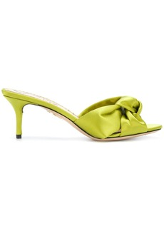 Charlotte Olympia Lola satin sandals - Green