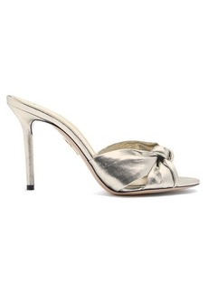 Charlotte Olympia Lola twist-strap lamé sandals