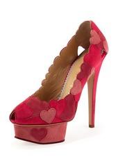 Charlotte Olympia Love Me Heart-Applique Pump