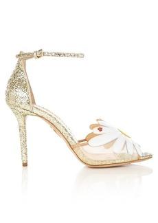 Charlotte Olympia Marguerite glitter sandals