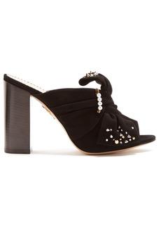 Charlotte Olympia Marylebone embellished suede sandals