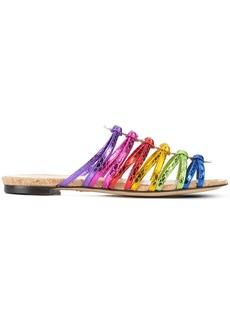 Charlotte Olympia metallic rainbow sandals - Multicolour