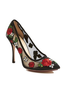 Charlotte Olympia Monroe Embroidered Pump (Women)