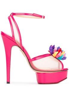 Charlotte Olympia Pomeline sandals - Pink & Purple