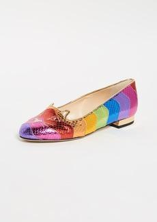Charlotte Olympia Rainbow Kitty Flats