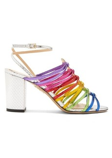 Charlotte Olympia Rainbow snakeskin-effect leather sandals