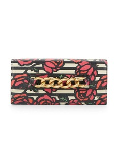 Charlotte Olympia Rose Print-Leather Wallet