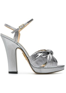 Charlotte Olympia silver Farrahc sandals - Metallic