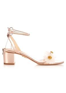 Charlotte Olympia Tara daisy-embellished leather sandals