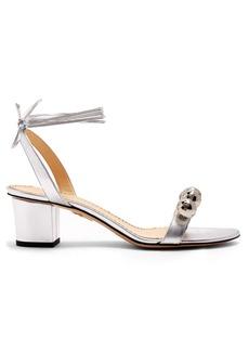 Charlotte Olympia Tara disco ball-embellished leather sandals