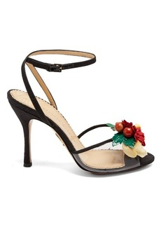 Charlotte Olympia Tropicana silk sandals