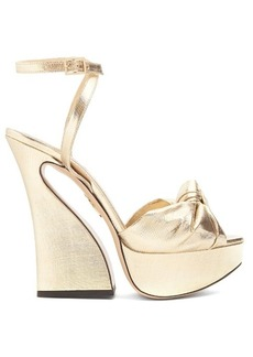 Charlotte Olympia Vreeland lamé sandals
