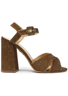 Charlotte Olympia Woman Leather-trimmed Lurex Sandals Gold