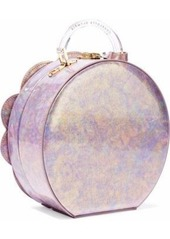 Charlotte Olympia Woman Neptune Atkinson Embellished Iridescent Leather Shoulder Bag Lilac