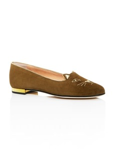 Charlotte Olympia Women's Kitty Embroidered Ballet Flats