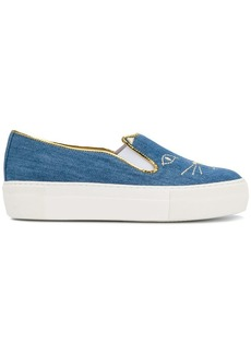 Charlotte Olympia Cool Cats slip-on sneakers