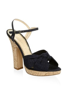 Charlotte Olympia Denim Ankle-Strap Sandals