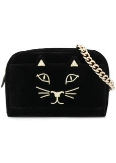 Charlotte Olympia embroidered kitty satchel