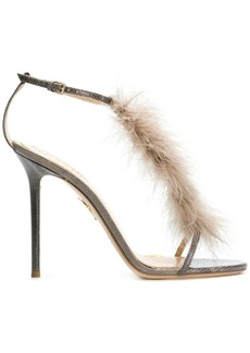 Charlotte Olympia feather embellished sandals