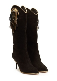 Charlotte Olympia Magnifico Suede Knee Boots
