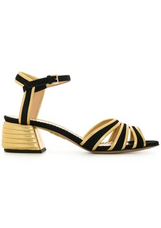 Charlotte Olympia ribbed block heel sandals