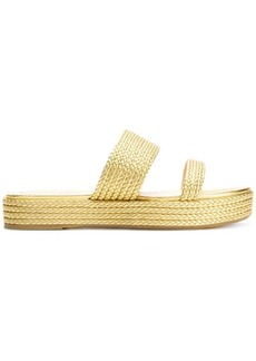 Charlotte Olympia woven jute sandals