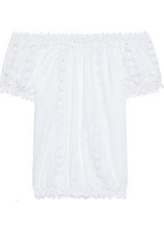 Charo Ruiz Ibiza Woman Maca Off-the-shoulder Cotton-blend Voile Blouse White