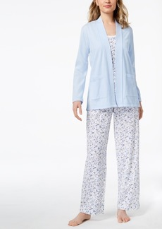 Charter Club 3-Piece Cotton Pajama Set, Created for Macy's