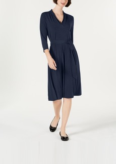 Charter Club 3/4-Sleeve Midi Dress, Created for Macy's