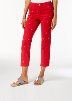 Charter Club Anchor Embroidered Capri Pants, Created for Macy's
