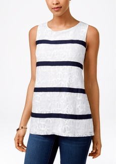 Charter Club Anchor Printed Sleeveless Top, Only at Macy's