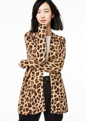 Charter Club Animal-Print Pure Cashmere Cardigan, Created for Macy's