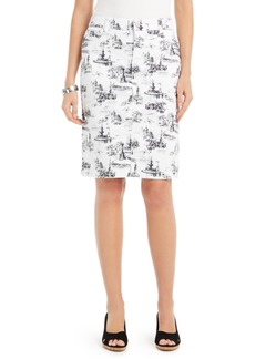 Charter Club Architectural-Print Denim Skirt, Created for Macy's