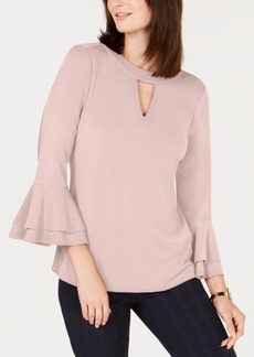 Charter Club Bell-Sleeve Keyhole Top, Created for Macy's