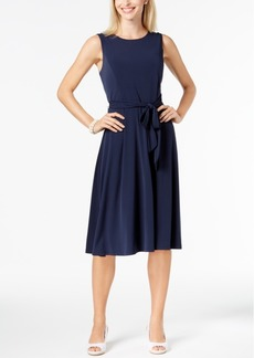 Charter Club Belted A-Line Dress, Created for Macy's