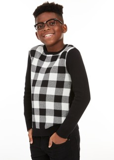 Charter Club Big Boys Buffalo Check Family Sweater, Created For Macy's