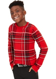 Charter Club Big Boys Plaid Family Sweater, Created For Macy's