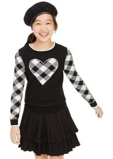 Charter Club Big Girls Buffalo Check Family Sweater, Created For Macy's